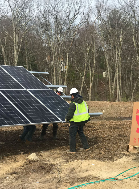Burrillville Solar Panel Installation