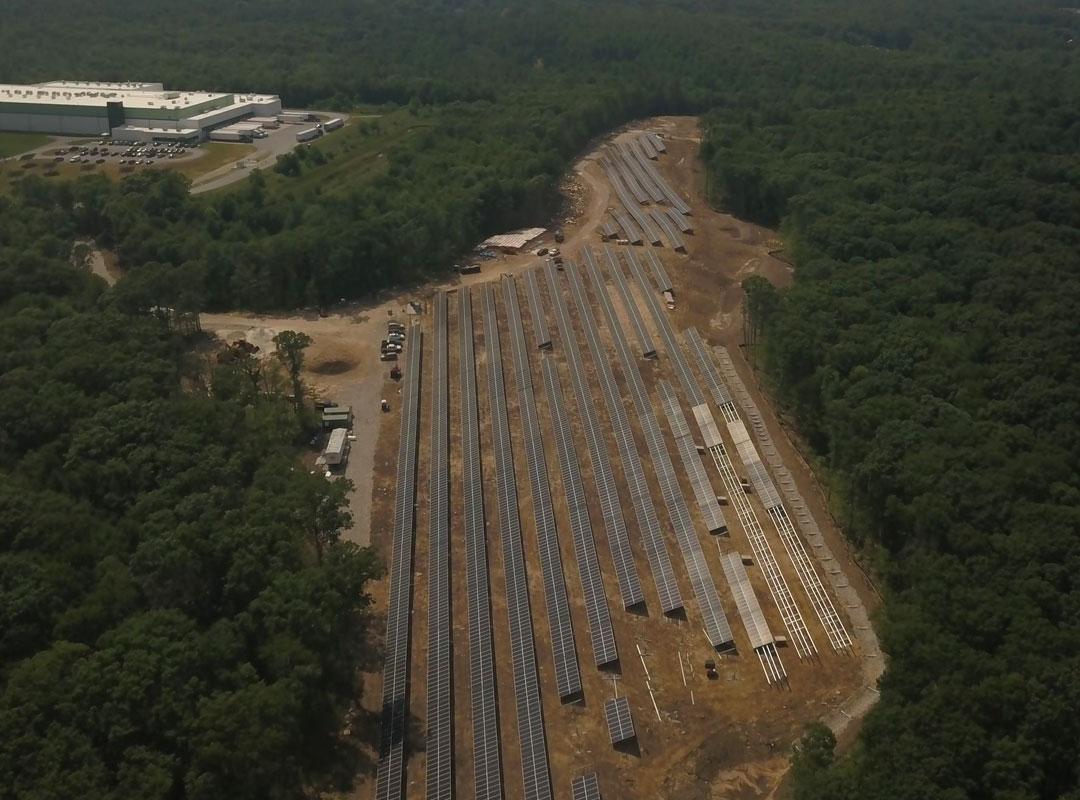 Burrillville Solar Panel Aerial