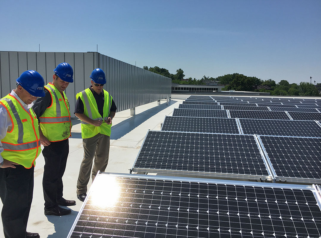 Roof Solar Panel Inspection