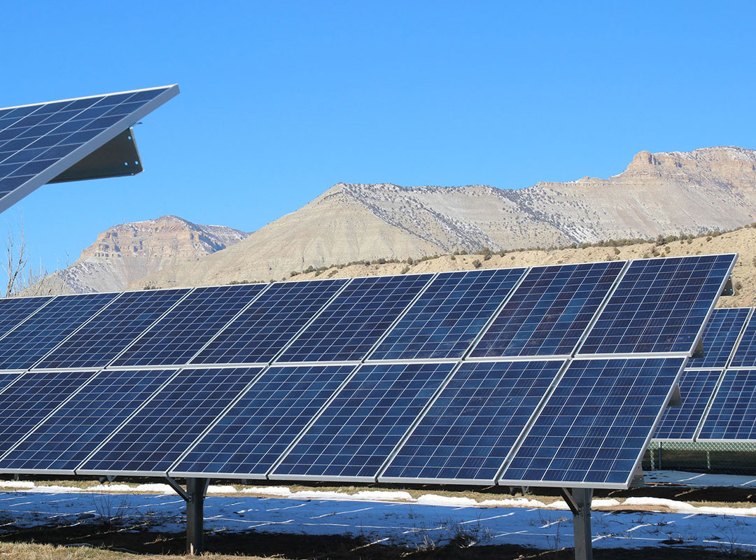Solar Panel Mountains