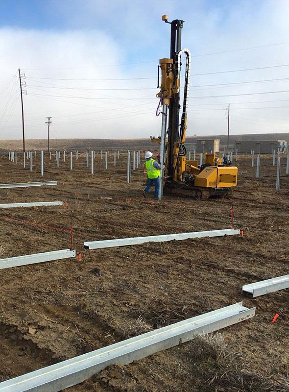 Colorado Community Solar Farm Install