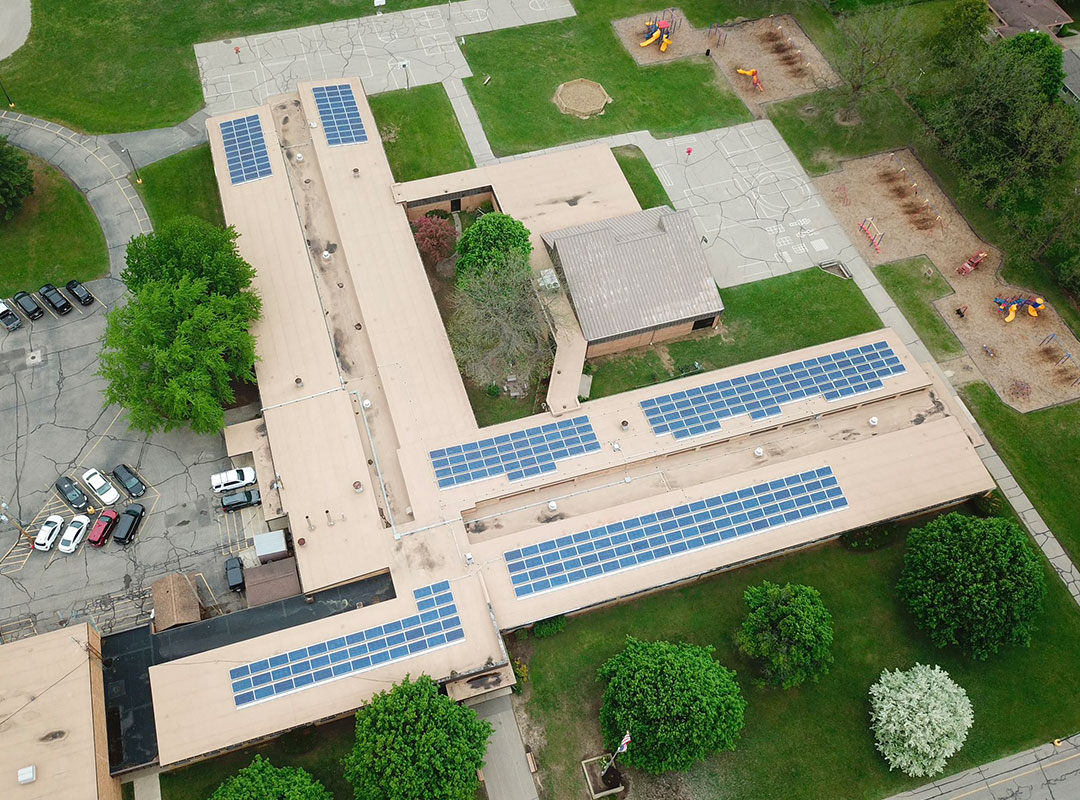 Flushing Schools Rooftop Aerial 2