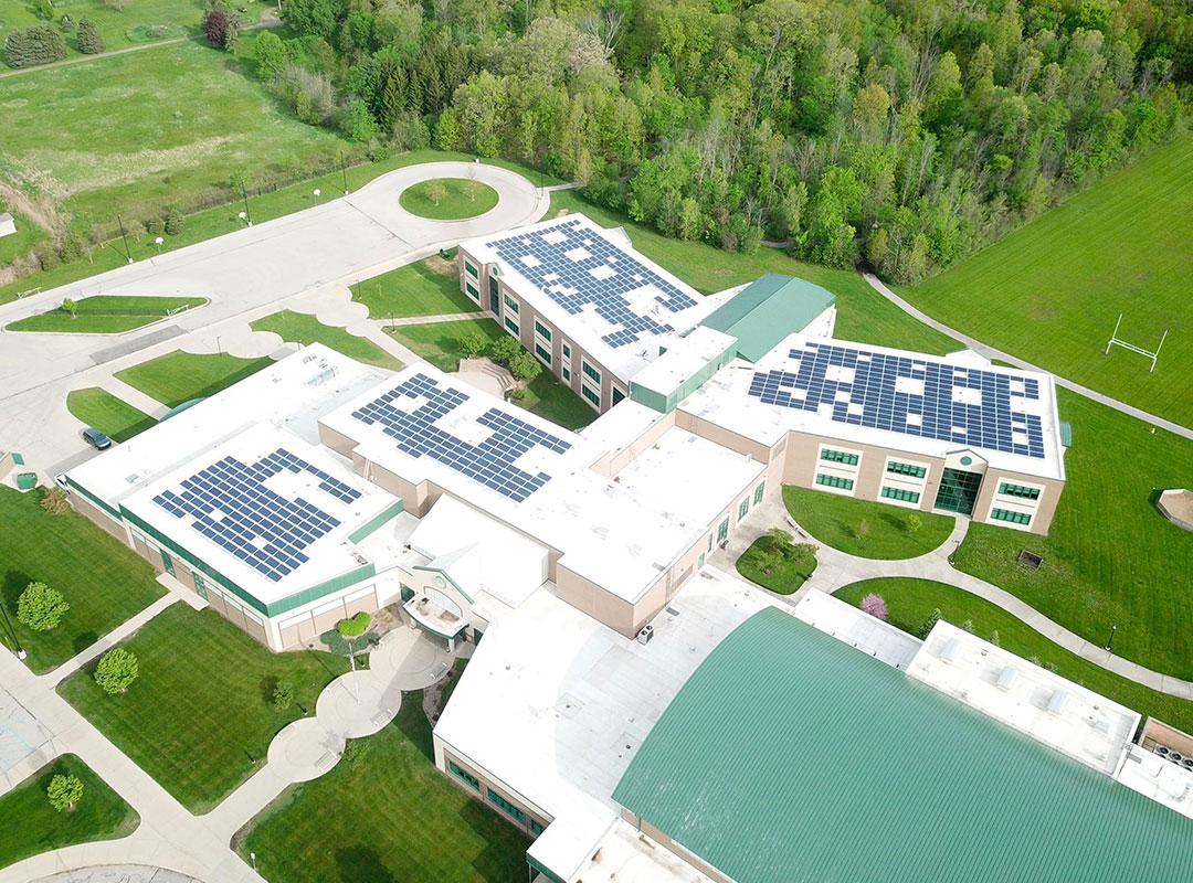 Flushing School Aerial 3