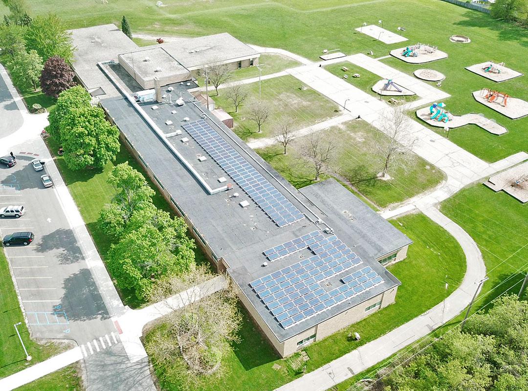Flushing School Aerial Roof 4