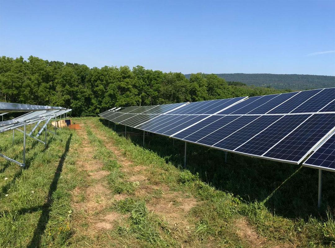Ft. Indiantown Solar Array in Sun