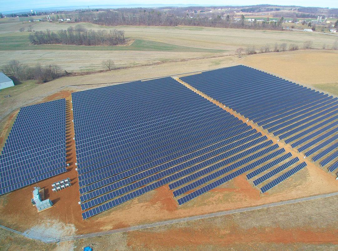 Minnesota Community Solar Array Top