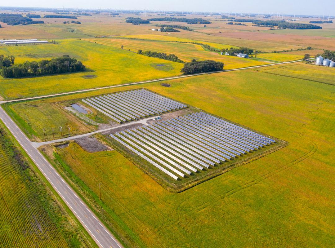 Minnesota Community Solar Bird's Eye