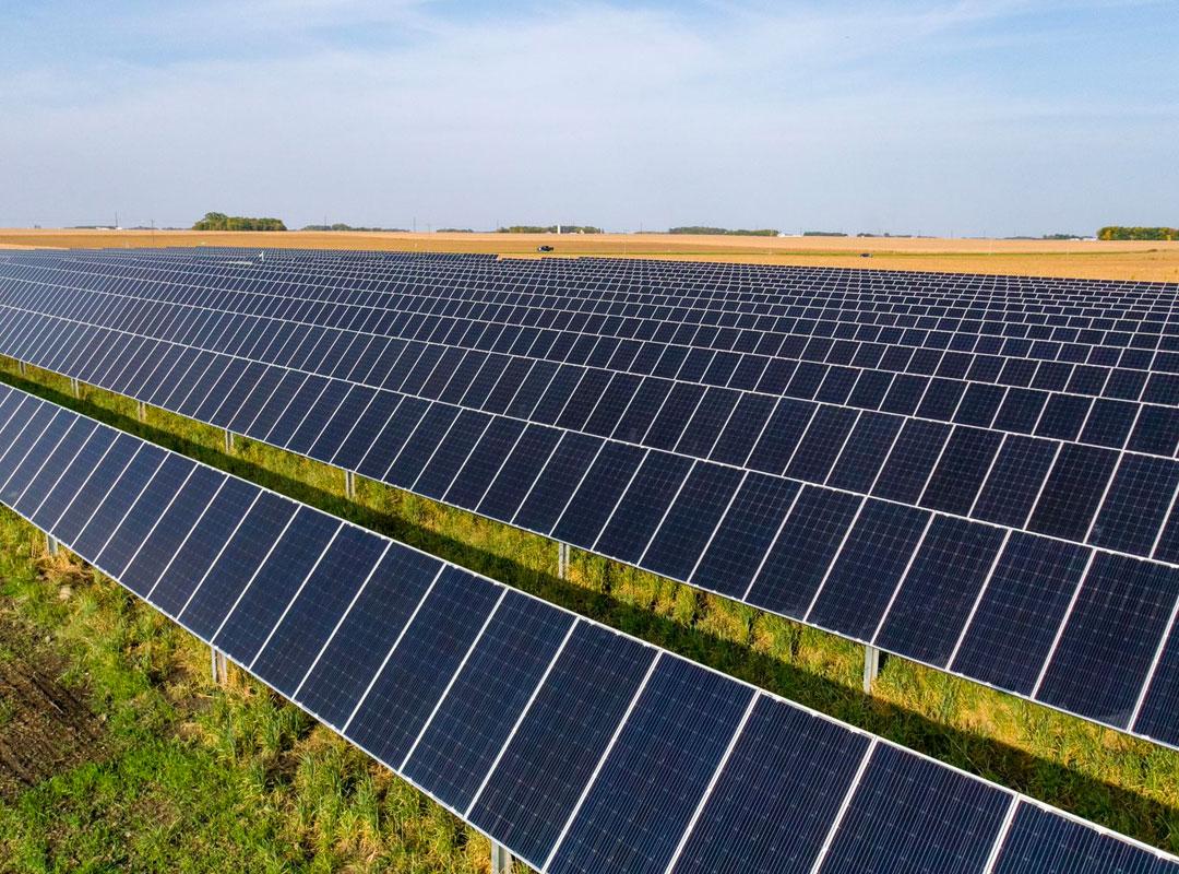 Minnesota Community Solar Closeup