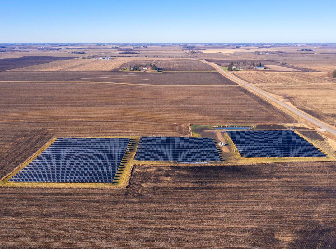 Minnesota Community Solar Aerial View