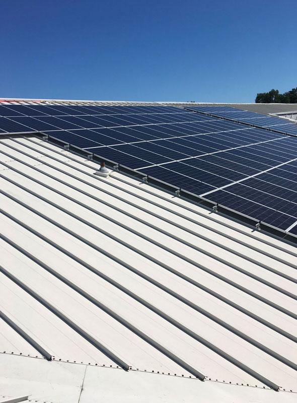 Richmond Public Schools Roof Array Closeup