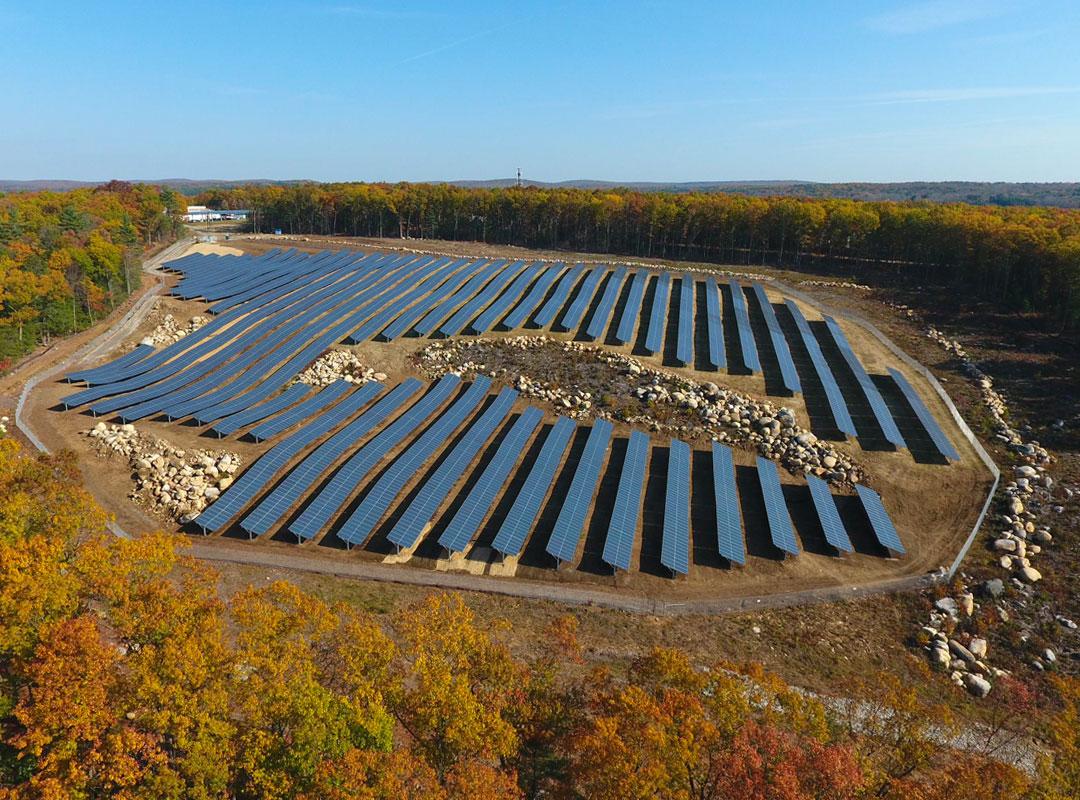 Stafford Solar Field Autumn