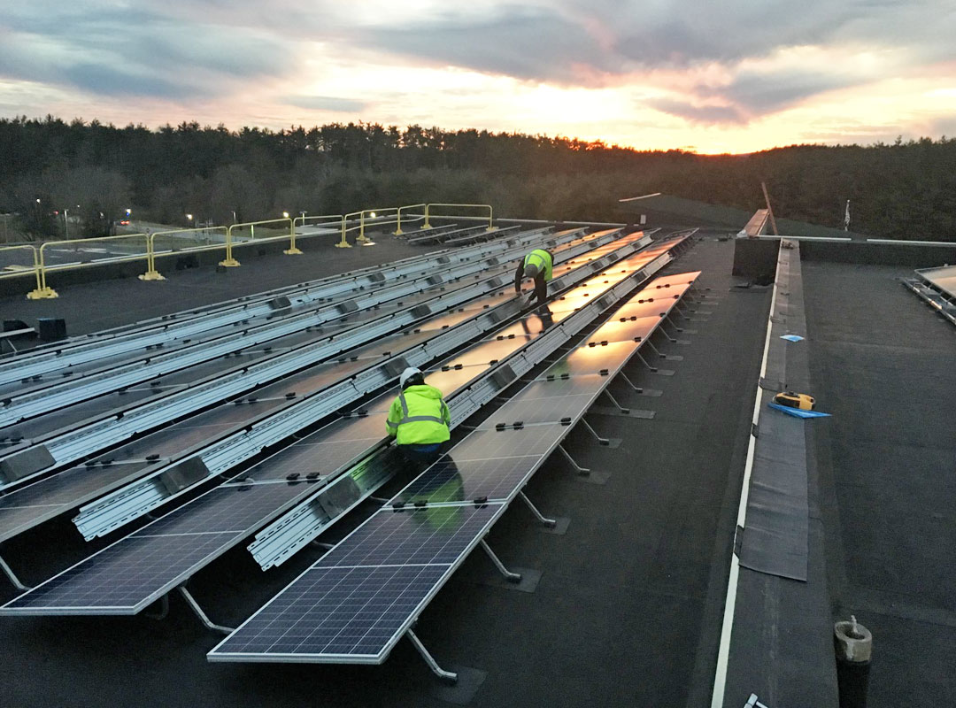 Augusta County Solar Roof Sunset