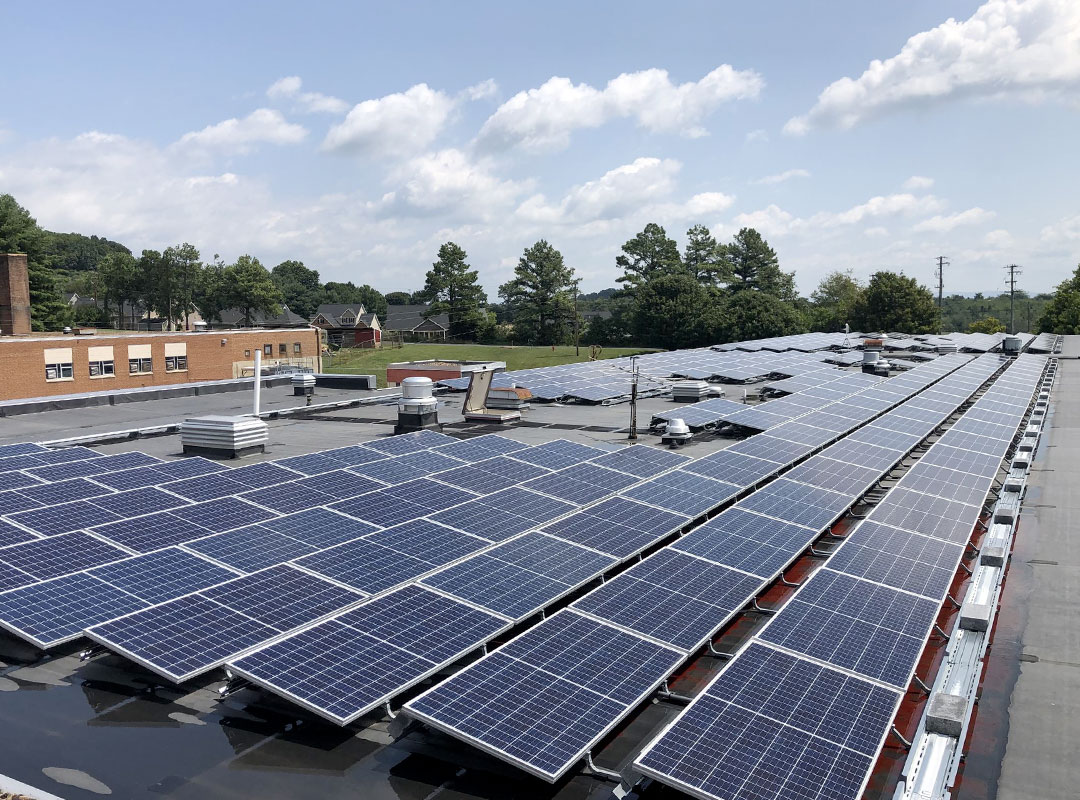 Augusta County Solar Roof