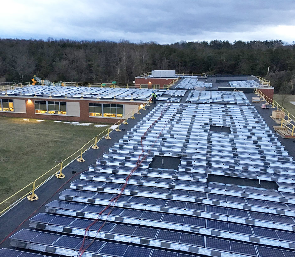 Augusta County Solar Roof Evening