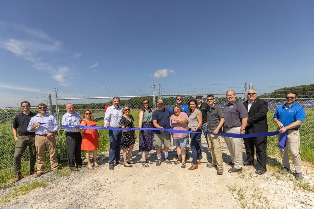 ribbon cutting new community solar project